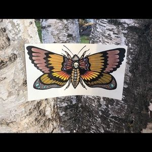 🎁 Skull Moth Watercolour Painting with Frame